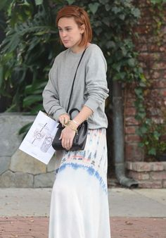 Rumer Willis at Alfred Coffee on Melrose Place in West Hollywood