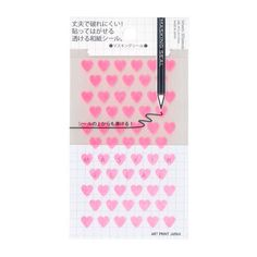 Mini Washi Tape Stickers - Neon Pink Hearts
