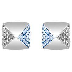 Swarovski Glance Stud Pierced Earrings, Blue 5272102 -- Click image to read more details. #Earrings