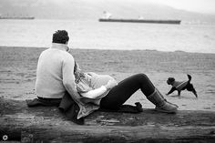 Natural snuggling (not weird staged snuggling)     Warming a Winter Chill - Maternity Photography by Sandy Pell, via Flickr
