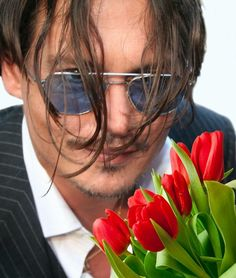 Flowers for you, from Johnny Depp