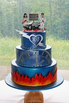 Back to the Future themed cake. By Irene's Cakes by Design, Vermont