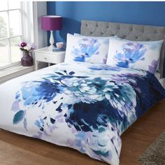 Cascade Flower Power Duvet Cover Set in Blue – Next Day Delivery Cascade Flower Power Duvet Cover Set in Blue from WorldStores: Everything For The Home Duvet Sets, Duvet Cover Sets, Flower Power, Contemporary Duvet Covers, Beige Bed Linen, Restoration Hardware Bedding, Matching Bedding And Curtains, Blue Duvet, Cheap Bed Sheets