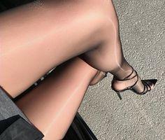 "ffcubanheel: ""Very beautiful and sexy classy silky sheer nylon legs ❤️ """