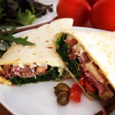 Rosbife Piadina Types Of Sandwiches, Creative Food, Tacos, Mexican, Foods, Ethnic Recipes, Roast Beef, Food Food, Food Items