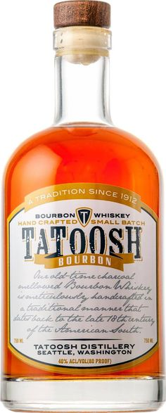 Aged for a minimum of three years, Tatoosh Bourbon earned the Platinum Medal at the SIP Awards in 2013 and 2014.