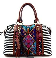 Striped Aztec Purse