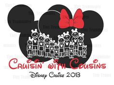 Mickey and Minnie Inspired Family Vacation  - DISNEY PRINTABLES - Perfect for family T-shirt iron on - Digital file