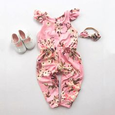 5.21 GBP - Newborn Baby Girl Floral Cotton Romper Bodysuit Jumpsuit Playsuit Clothes Outfit #ebay #Home & Garden