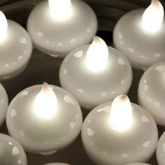 Round LEDs Waterproof Floating Tea Light for Fish Bowl Lantern Wedding Centerpiece Decorations