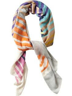 Tolani Stripes Lightweight Scarf. Colorful stripes for spring!