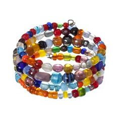 Global Girlfriend Multi Mix Coil Bracelet ~ A nice way to use up those extra beads that have no place to go! That works!