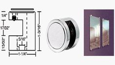 """CRL Edge Grips for 1/2"""" Material Chrome Finish - Set of 4 by C.R. Laurence. $96.00. Edge Grip installation into Substrate. Available for Glass, Acrylic, Metal or Wood Panels - 1/4"""", 3/8"""" and 1/2"""" (6, 9, and 12 mm) No Drilling Required in Glass or Panel Materials Can be used on Corners and Edges of Panels  This CRL Edge Grip is another component of CRL new Standoff Display System. It provides additional flexibility in attaching decorative panels or signage to w..."""