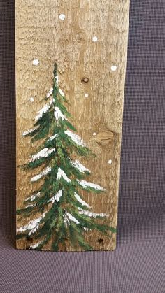Christmas Winter Reclaimed Wood Pallet Art, Let It Snow, Hand painted Pine tree,Christmas decorations, upcycled shabby chic, GIFTS UNDER 20