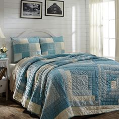 Sea Cottage King Quilt Set 95x105 w/2 King Shams