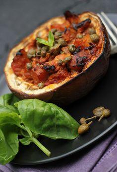 Violetta aubergine baked with tuna caponata