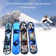 NEW KIDS SNOWBOARD SKI SLEDGE SNOW BOARD RED BLUE BOARDING BOYS GIRLS SCOOTER