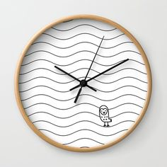 Buy #010 OWLY slim dunes Wall Clock by owlychic. Worldwide shipping available at Society6.com. Just one of millions of high quality products available. #livingrooms #products #today #owlychic  #livingrooms #decors #building #product #clock #wall #wallclocks
