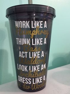 Work like a Humphrey Think like a Bass Act by HaleysCraftyCrafts