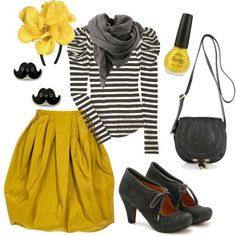 black & yellow & stripes