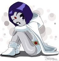 DC Teen Titans Little White Scared Raven by Darkness1999th