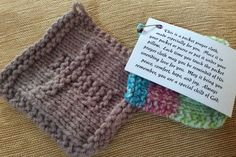 prayer shawls Prayer squares are squares, knitted or crocheted, that can function as a small version of prayer shawl--made in prayer, with prayer, for prayer. Crochet Triangle, Crochet Cross, Knit Or Crochet, Crochet Shawl, Crochet Angels, Prayer Shawl Patterns, Knitting Patterns, Crochet Patterns, Crochet Ideas