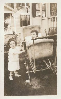 vintage photo - love this pram