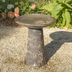 Ancient Collection Salt Glaze Birdbath with Detachable Top