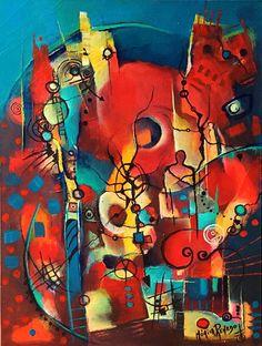 Painting Abstracto ! Título Más allá de lo Aparente . T.Mixta. By Mónica Renedo,Art.