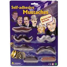 Moustaches adhésives 7 modèles sous blister - Schylling-4921748