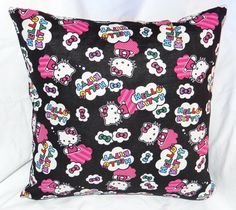 """The first of the Hello Kitty line of pillows.  Each one is 14"""" and has a zipper on the bottom for easy washing."""