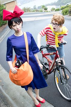 Kiki and Tombo from Kiki's Delivery Service