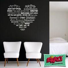 Adesivo decorativo - Frase Coração #adesivo #frase #coração #romântico
