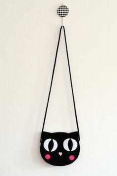Bolsa de gato negro Mini blackchildrens bolso bolso de los
