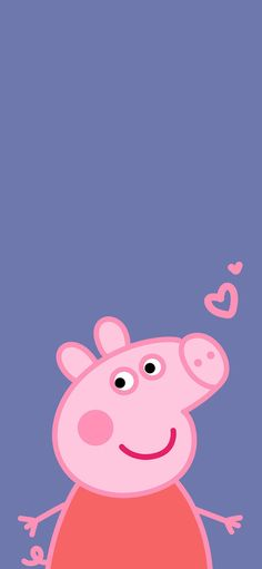 Animation of cartoon of piggy admire strange love is lovely Wallpapers for iPhone X, iPhone XS and iPhone XS Max - Free Wallpaper