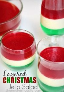 Layered Christmas Jello Salad {TMH}