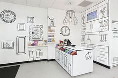 2D Painted Candy Room Store Design 1