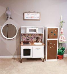 Kitchen hacks diy: ikea hack: building your child's dream duktig play kitchen Childrens Play Kitchen, Ikea Kids Kitchen, Ikea Kids Room, Diy Play Kitchen, Play Kitchens, Toy Kitchen, Kitchen Hacks, Kitchen Makeovers, Kitchen Cabinets