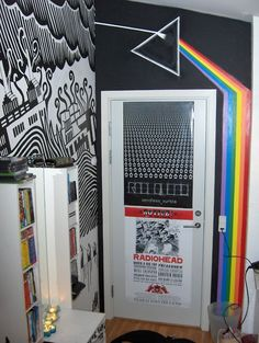 Radiohead and Pink Floyd inspired room