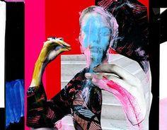 Lotus, paper collage 2015 by Moni Wilk