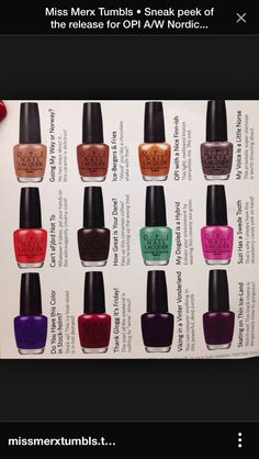 OPI Fall Collection