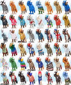 The 50 celebrity-designed bears will be dotted around London...