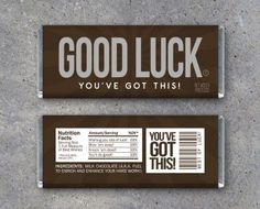 Looking for a unique way to say Good Luck? We gotcha covered! Simply print, trim and wrap up your favorite chocolate bar in these Good Luck wrappers and you have an instant gift! They make perfect gifts for musical recitals, plays, sports, academics, interviews, elections, and more! Printable Instant Download by Studio 120 Underground, $5.
