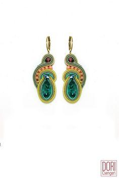 Splash everyday crystal earrings by Dori Csengeri  #doricsengeri #turquoiseearrings #resortwear #everydayearrings #casualearrings