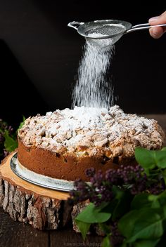 Ciasto z rabarbarem i kruszonką