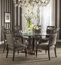 Round Formal Dining Room Sets For 6 - You were invited to your own buddy's house for your own dinner and as you walked into Black Dining Room Sets, Round Dining Table Sets, Glass Dining Room Table, Pedestal Dining Table, Luxury Dining Room, Dining Room Design, Dining Room Furniture, Furniture Design, Fine Furniture
