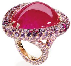 Di Grosogono Ruby and Diamond Ring