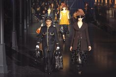 Marc Jacobs' follow-up to his Spring Carousel...Louis Vuitton Fall 2012 & oversized hats by Stephen Jones...19th century travel heritage inspired looks