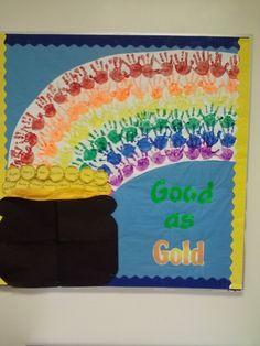 bulleting board for prek for march | My March bulletin board | kindergarten