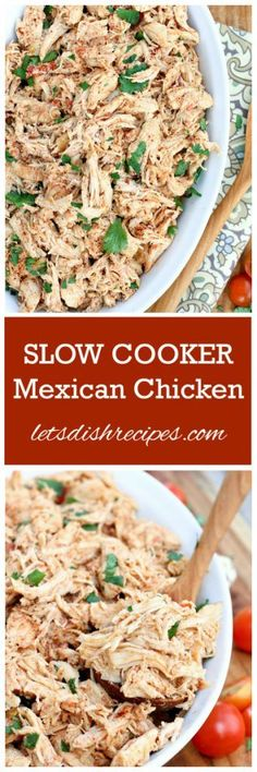 Slow Cooker Mexican Chicken Recipe | Use it i tacos, burritos, enchiladas, nachos, tostadas, chimichangas, soups, salads, sandwiches…..the possibilities are almost endless.